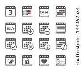 set of calendar icons  vector...