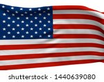 3d illustration a waving flag... | Shutterstock . vector #1440639080