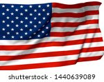 3d illustration a waving flag... | Shutterstock . vector #1440639089