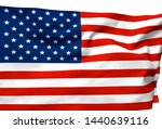 3d illustration a waving flag... | Shutterstock . vector #1440639116