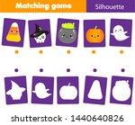 shadow matching game. match... | Shutterstock . vector #1440640826