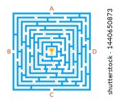 labyrinth game. square maze.... | Shutterstock . vector #1440650873
