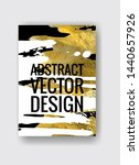 vector black  white and gold... | Shutterstock .eps vector #1440657926