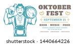 oktoberfest flyer or banner... | Shutterstock .eps vector #1440664226