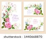 set wedding invitation cards.... | Shutterstock .eps vector #1440668870