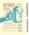 oktoberfest flyer or poster... | Shutterstock .eps vector #1440669953