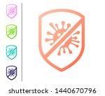 coral stop virus  bacteria ... | Shutterstock .eps vector #1440670796