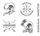 Set Of Vintage Surfing Labels...