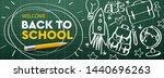 welcome back to school... | Shutterstock .eps vector #1440696263