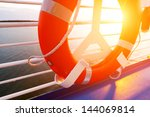 life buoy on a cruise ship | Shutterstock . vector #144069814