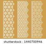 vector set of line borders with ... | Shutterstock .eps vector #1440700946