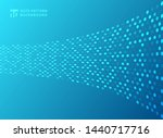 abstract technology style dots... | Shutterstock .eps vector #1440717716