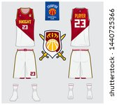 basketball uniform mockup... | Shutterstock .eps vector #1440725366