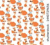 fox character doing different... | Shutterstock .eps vector #1440729656