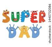 super dad typography cute...   Shutterstock .eps vector #1440732086