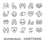care icon. help and sympathy... | Shutterstock .eps vector #1440733340