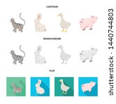 isolated object of breeding and ... | Shutterstock .eps vector #1440744803