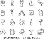 set of alcohol icons  such as... | Shutterstock .eps vector #1440750113