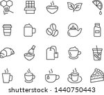 set of coffee line icons  such... | Shutterstock .eps vector #1440750443