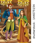beauty and the beast   prince... | Shutterstock . vector #144075154