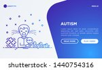 autism symptoms and adaptive... | Shutterstock .eps vector #1440754316