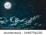 backgrounds night sky with... | Shutterstock . vector #1440756230