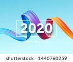 happy new year 2020. lettering... | Shutterstock .eps vector #1440760259