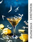 fresh alcoholic cocktail with... | Shutterstock . vector #1440760436