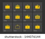 case icons. traveling bags and...