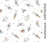 watercolor cute baby pattern... | Shutterstock . vector #1440763310