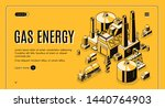 natural gas and energy supply... | Shutterstock . vector #1440764903
