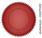 red seal | Shutterstock . vector #144079150