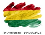 bolivia flag  is depicted in... | Shutterstock . vector #1440803426