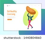 landing page template with... | Shutterstock .eps vector #1440804860
