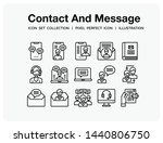 contact and message icons set....