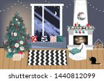 christmas living room in... | Shutterstock .eps vector #1440812099
