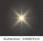 white glowing light explodes on ... | Shutterstock .eps vector #1440819113
