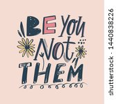 be you not them vector... | Shutterstock .eps vector #1440838226