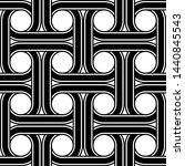 design seamless interlaced... | Shutterstock .eps vector #1440845543