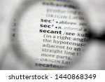 Small photo of The word or phrase Secant in a dictionary