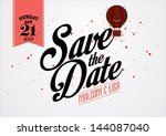 save the date template vector... | Shutterstock .eps vector #144087040