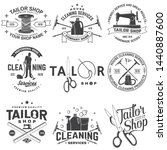set of tailor shop  cleaning... | Shutterstock .eps vector #1440887600