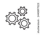 gear  setting  cogwheel icon in ...