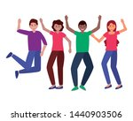 happy young group people... | Shutterstock .eps vector #1440903506