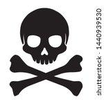 crossbones skull mark flat... | Shutterstock .eps vector #1440939530