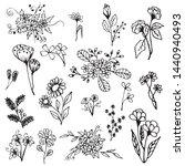 set of floral element  natural...   Shutterstock .eps vector #1440940493