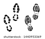 hand drawn sneakers on white... | Shutterstock .eps vector #1440953369