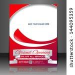 vector grand opening brochure ... | Shutterstock .eps vector #144095359