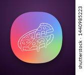 sliced pizza app icon. pizzeria ...