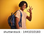 afro american student man with... | Shutterstock . vector #1441010183